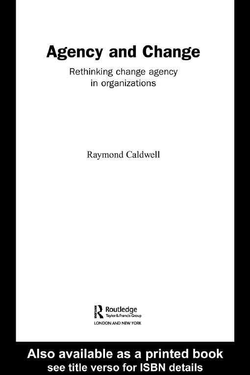 Agency and Change