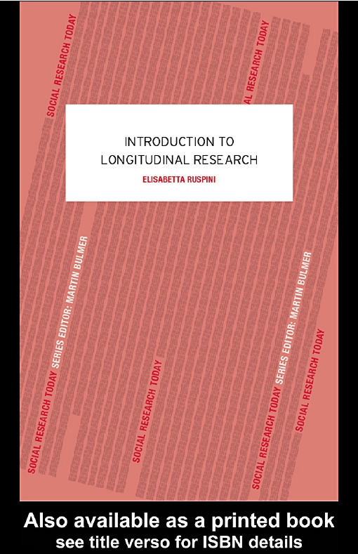 Introduction to Longitudinal Research
