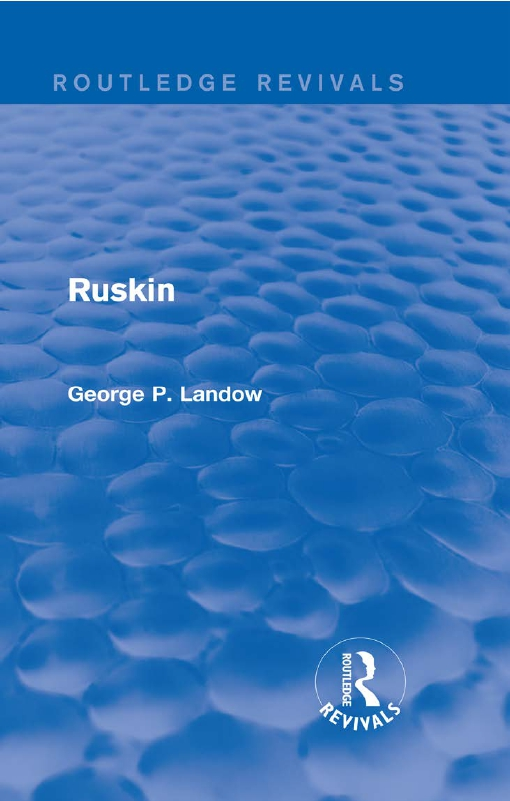 Ruskin (Routledge Revivals)