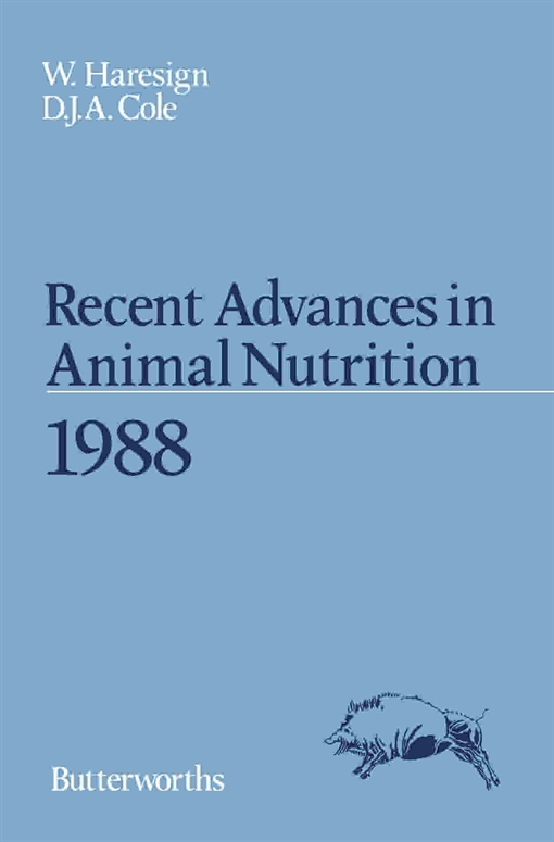 Recent Advances in Animal Nutrition 1988
