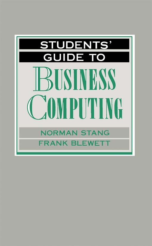Students' Guide to Business Computing