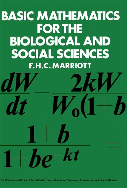 Basic Mathematics for the Biological and Social Sciences