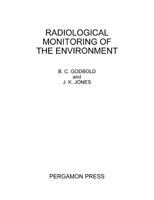Radiological Monitoring of the Environment