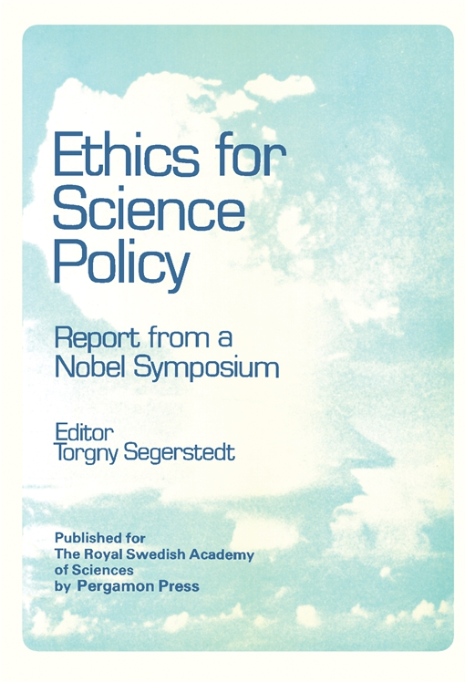 Ethics for Science Policy