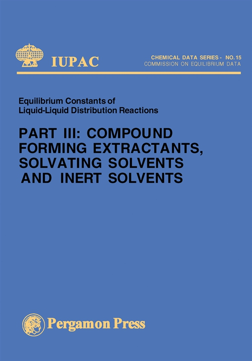 Compound Forming Extractants, Solvating Solvents and Inert Solvents