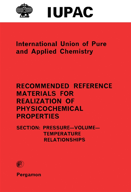 Recommended Reference Materials for Realization of Physicochemical Properties