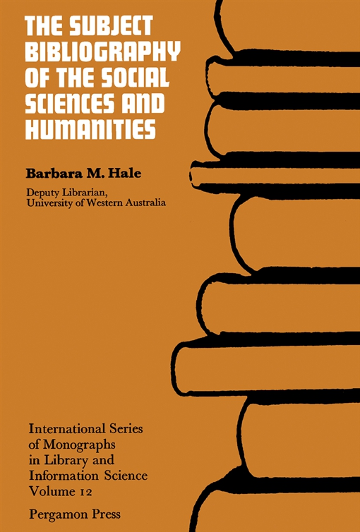 The Subject Bibliography of the Social Sciences and Humanities