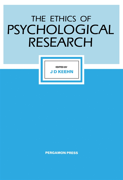 The Ethics of Psychological Research