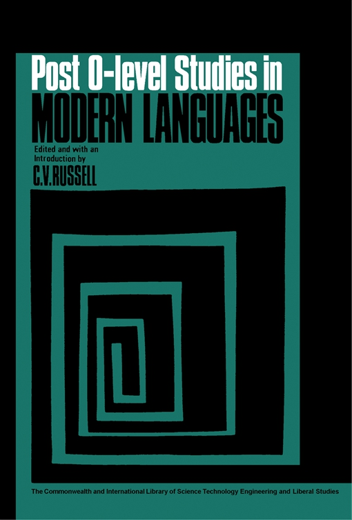 Post-O-Level Studies in Modern Languages
