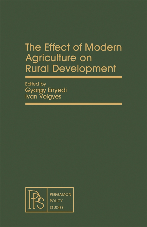 The Effect of Modern Agriculture on Rural Development
