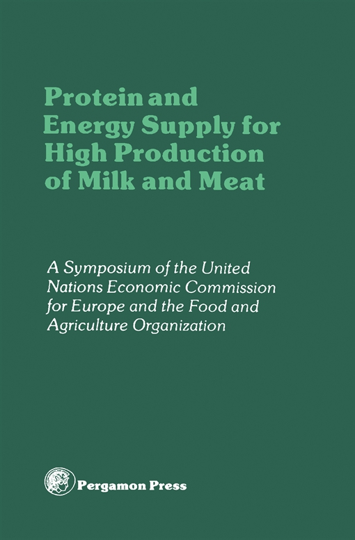 Protein and Energy Supply for High Production of Milk and Meat