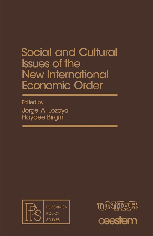 Social and Cultural Issues of the New International Economic Order