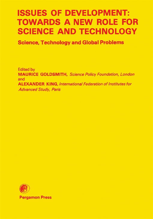 Issues of Development: Towards a New Role for Science and Technology