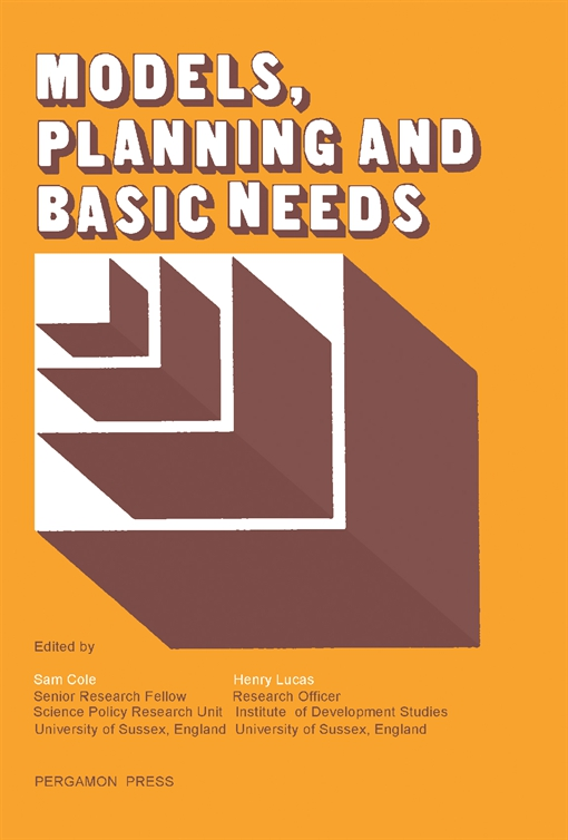 Models, Planning and Basic Needs