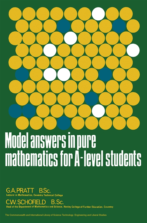 Model Answers in Pure Mathematics for A-Level Students