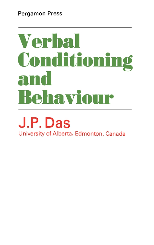 Verbal Conditioning and Behaviour