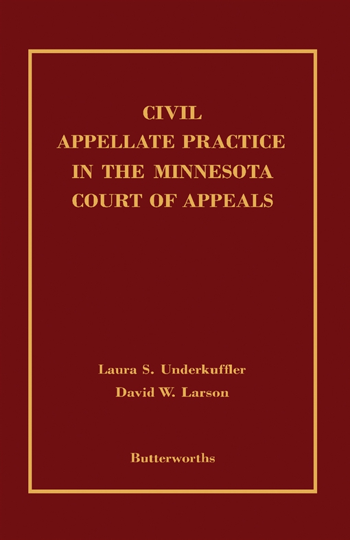 Civil Appellate Practice in the Minnesota Court of Appeals