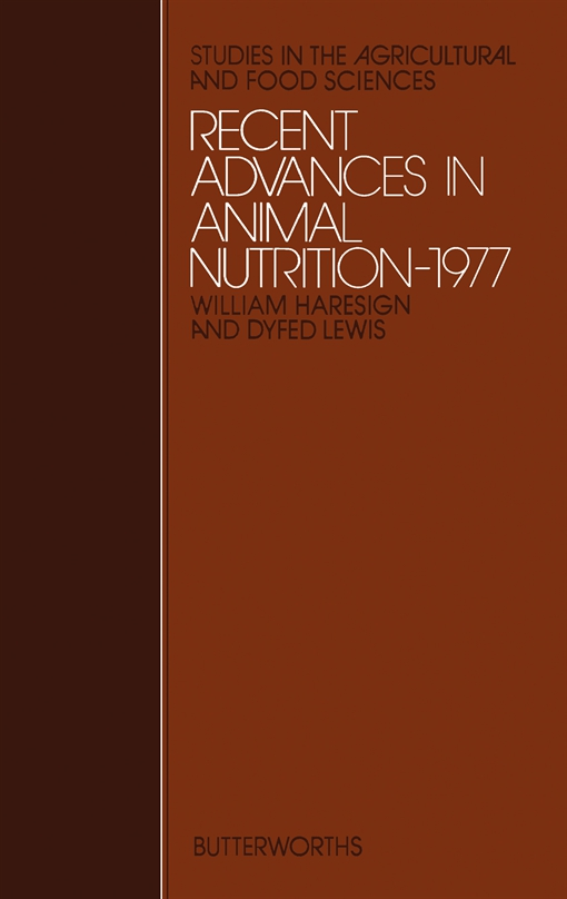 Recent Advances in Animal Nutrition – 1977