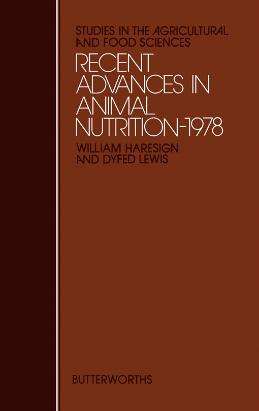 Recent Advances in Animal Nutrition– 1978