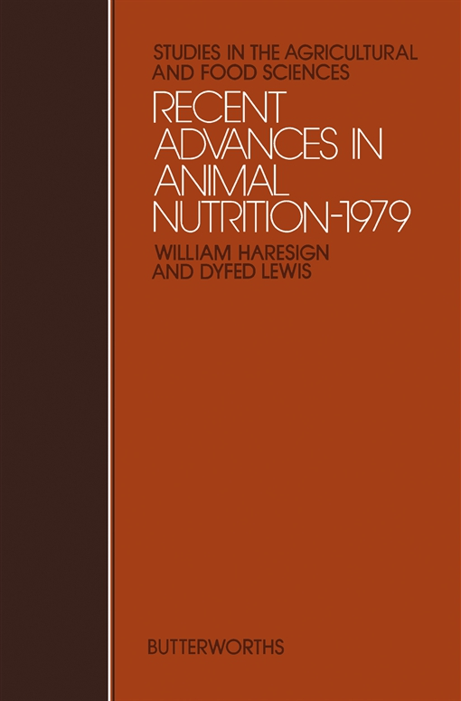 Recent Advances in Animal Nutrition – 1979