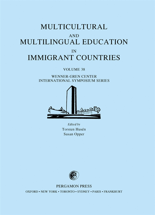 Multicultural and Multilingual Education in Immigrant Countries
