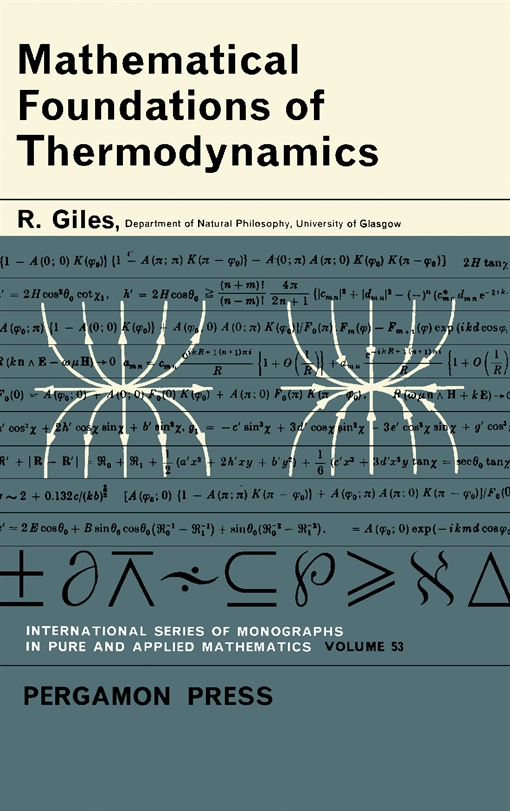Mathematical Foundations of Thermodynamics