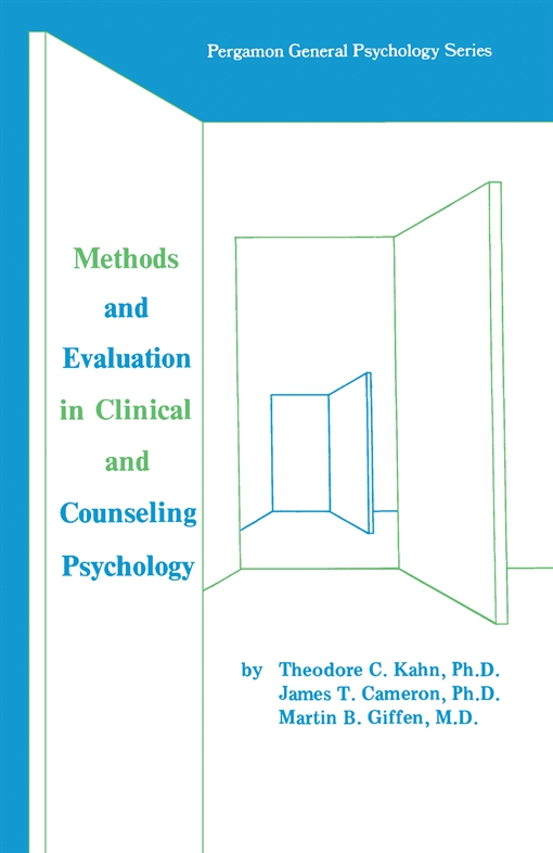 Methods and Evaluation in Clinical and Counseling Psychology