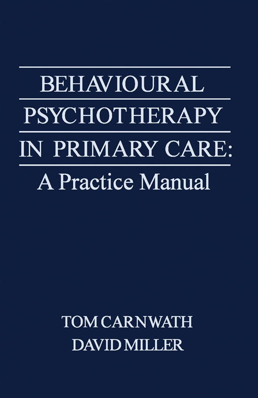 Behavioural Psychotherapy in Primary Care