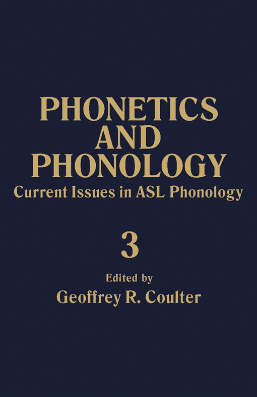 Current Issues in ASL Phonology