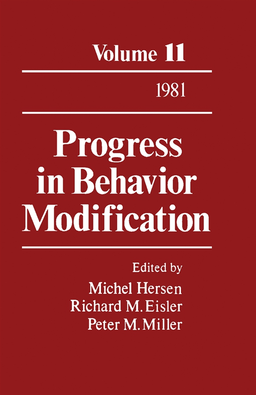 Progress in Behavior Modification