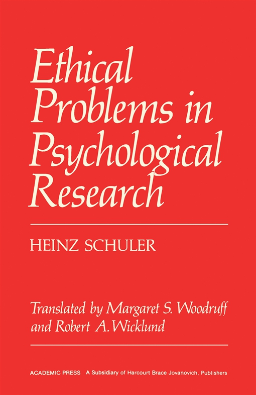 Ethical Problems in Psychological Research