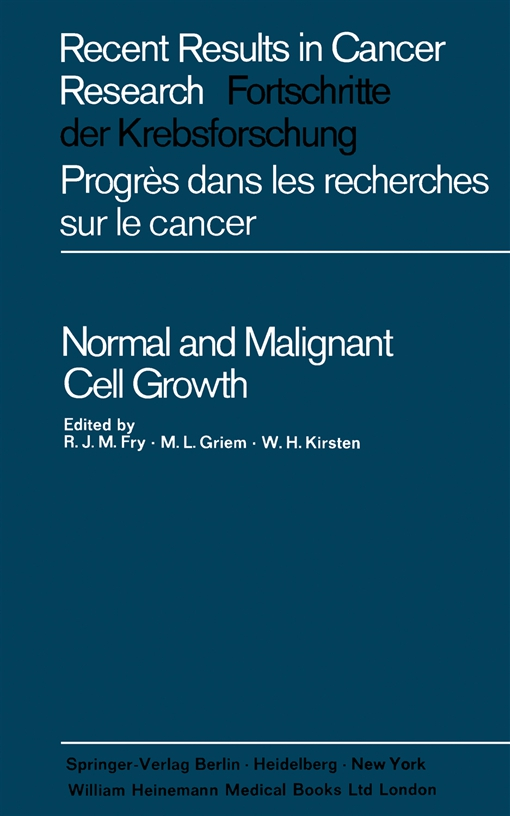 Normal and Malignant Cell Growth