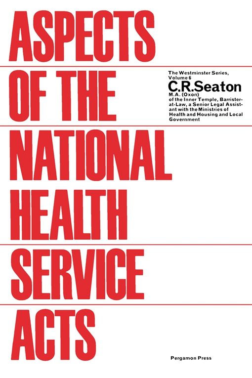 Aspects of the National Health Service Acts