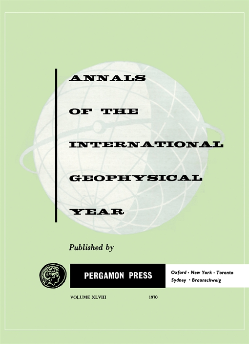 Annals of the International Geophysical Year