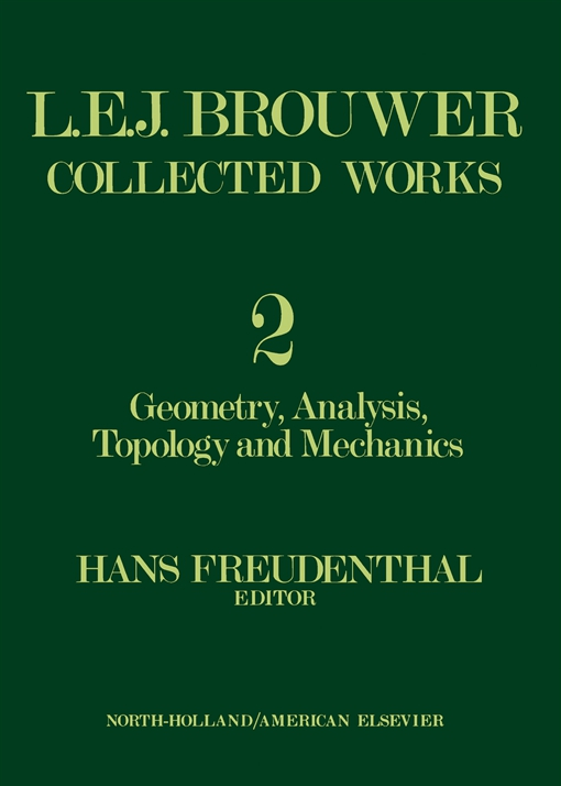 L. E. J. Brouwer Collected Works
