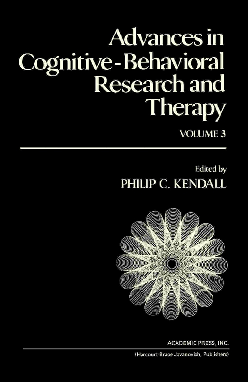 Advances in Cognitive—Behavioral Research and Therapy