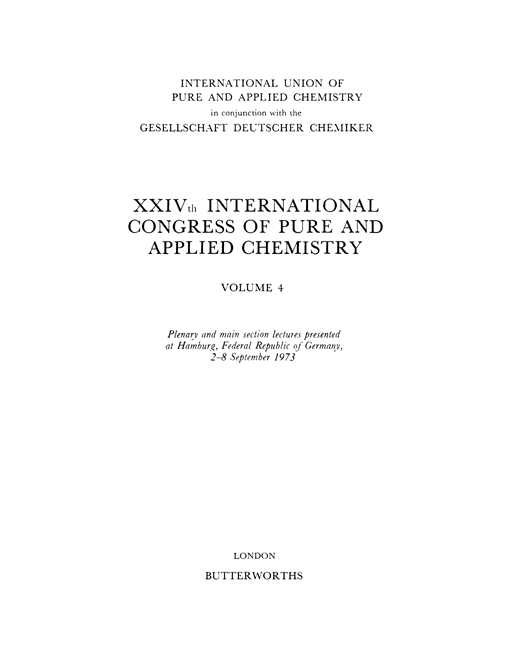 XXIVth International Congress of Pure and Applied Chemistry