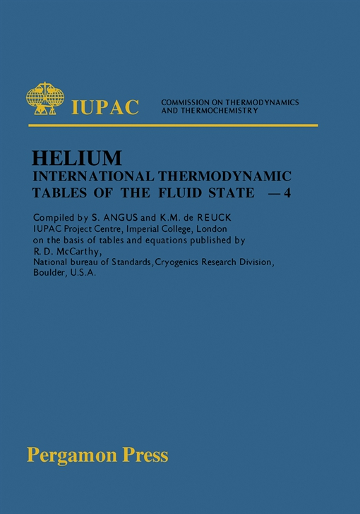 International Thermodynamic Tables of the Fluid State Helium-4