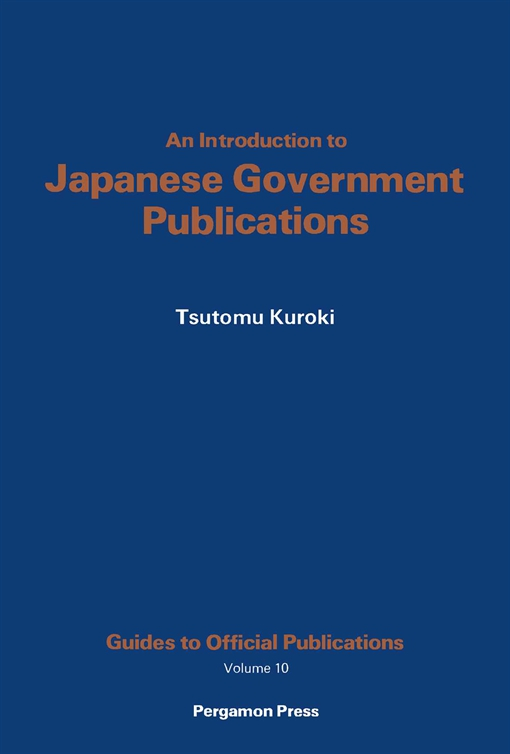 An Introduction to Japanese Government Publications