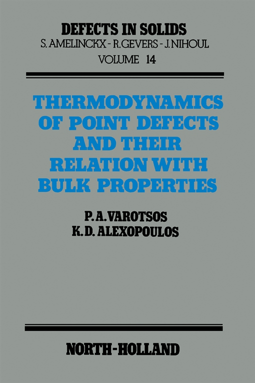 Thermodynamics of Point Defects and Their Relation with Bulk Properties