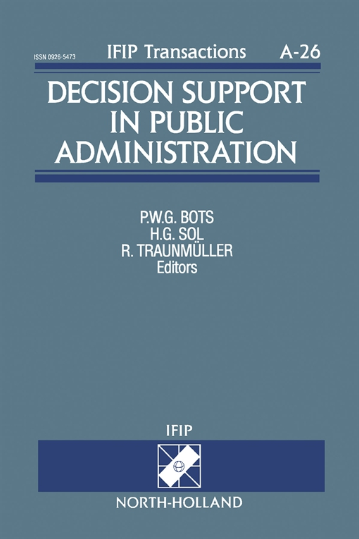 Decision Support in Public Administration