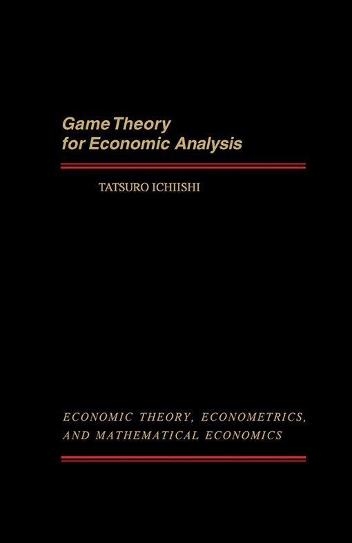 Game Theory for Economic Analysis