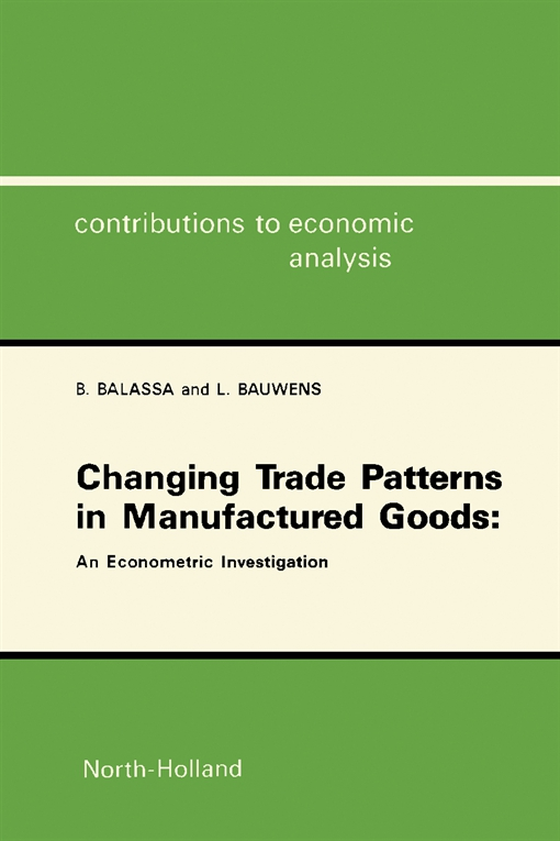 Changing Trade Patterns in Manufactured Goods: An Econometric Investigation