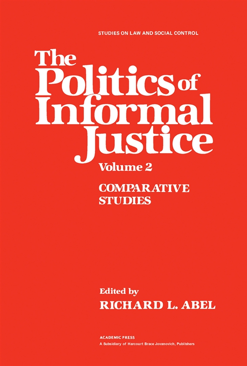 The Politics of Informal Justice
