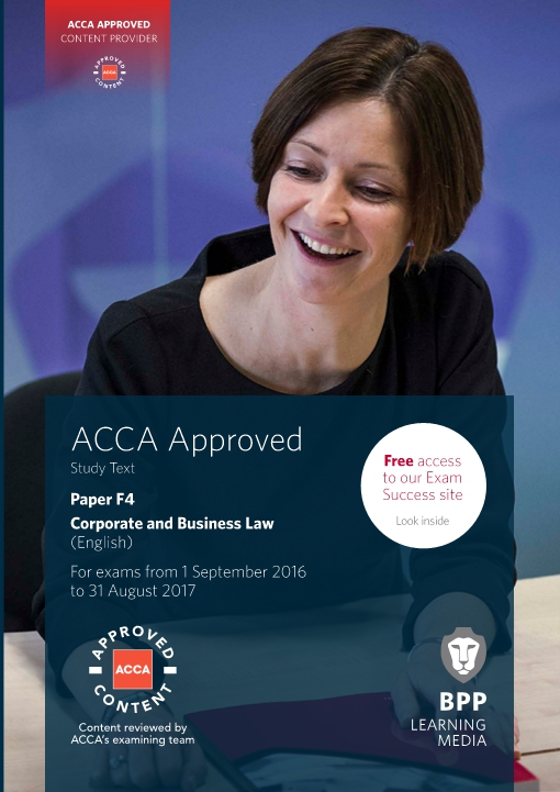 ACCA F4 Corporate and Business Law (English) - Study Text