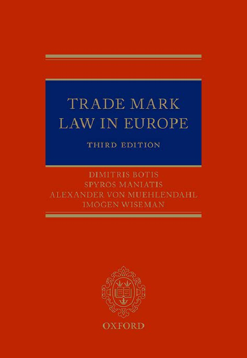 Trade Mark Law in Europe 3e