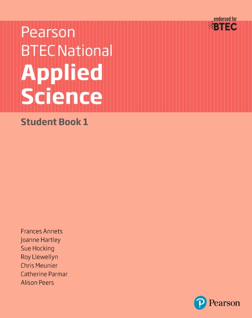 BTEC Level 3 Nationals 2016 Applied Science Student Book 1