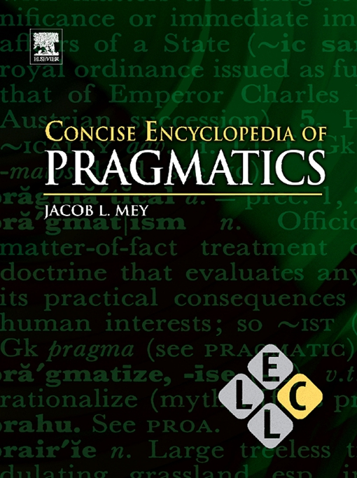 Concise Encyclopedia of Pragmatics