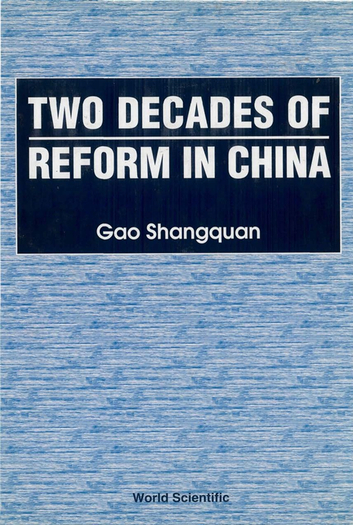 Two Decades of Reform in China