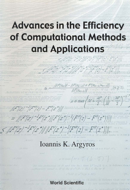 Advances in the Efficiency of Computational Methods and Applications
